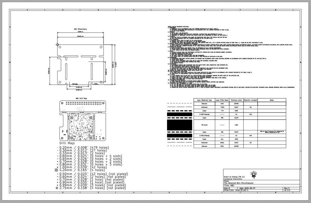 Example PCB Fab Drawing